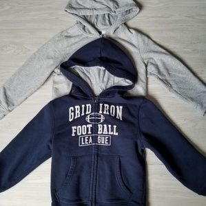 2 boys zip up hoodie sweater